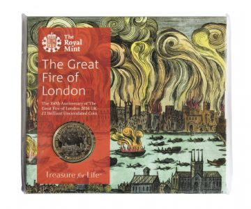 2016 £2 Great fire Of London Brilliant Uncirculated pack